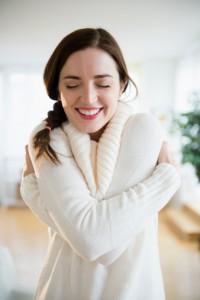 HuggingSelfWoman